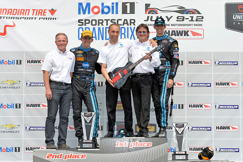10-12 July 2015, Bowmanville, Ontario Canada<br /> 10, Chevrolet, Corvette DP, P, Ricky Taylor, Jordan Taylor PRS guitar award in victory lane<br /> &copy;2015 Scott R LePage <br /> LAT Photo USA