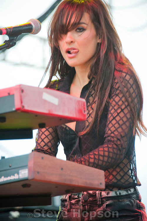 Alexandra Lawn of Ra Ra Riot at  Fun Fun Fun Fest at Auditorium Shores, Austin Texas, November 5, 2011.