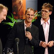 NLD/Hilversum/20061020 - Uitreiking Gouden Radioring 2006, Edwin Evers, winnaar Zilveren RadioSter voor de radioman van het jaar uitgereikt door Frank de Boer