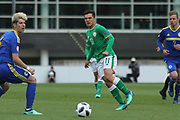 Sean Brennan of Republic of Ireland (11) passes a through ball during the UEFA European Under 17 Championship 2018 match between Bosnia and Republic of Ireland at Stadion Bilino Polje, Zenica, Bosnia and Herzegovina on 11 May 2018. Picture by Mick Haynes.