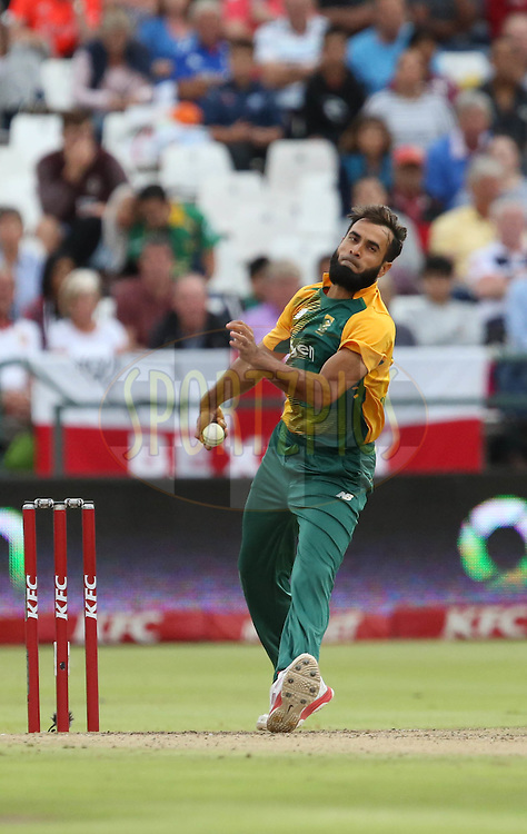 Imran Tahir during the First KFC T20 Match between South Africa and England played at Newlands Stadium, Cape Town, South Africa on February 19th 2016