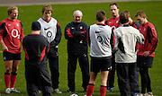 Twickenham, GREAT BRITAIN,  Jon CALLARD, chats with the fowards during the England Training session, Tue 23.01.2007 RFU Stadium, England. Photo, Peter Spurrier/Intersport-images]..Facing left to right,  Shane GERARITY, Matthew TAIT, Brian ASHTON, Mike CATT, Jonny WILKINSON, Josh LEWSEY, Back to camera left to Right, Shane PERRY, Toby FLOOD and Jon CALLARD.
