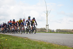 The lead group at Healthy Ageing Tour 2019 - Stage 4B, a 74.6km road race from Wolvega to Heerenveen, Netherlands on April 13, 2019. Photo by Sean Robinson/velofocus.com