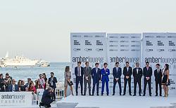 May 25, 2018 - Montecarlo, Monaco - Formula 1 drivers present the creations of Alessandra Vicedomini at the 15th Amber Lounge Charity Fashion Show 2018 in Monte Carlo, Monaco. (Credit Image: © Robert Szaniszlo/NurPhoto via ZUMA Press)