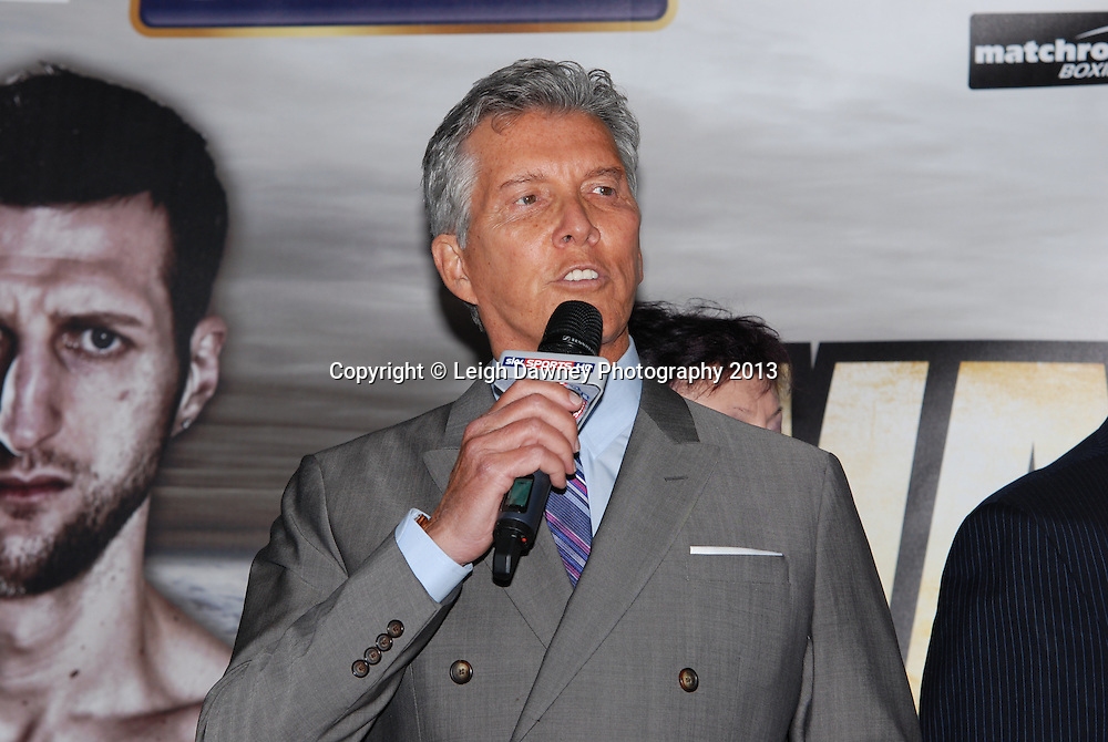 MC Michael Buffer at the Public Weigh In for Carl Froch v Mikkel Kessler fight at London Piazza, 02 Arena, London, United Kingdom. 24.05.13. Credit © Leigh Dawney Photography 2013.