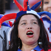 FOXBOROUGH, MASSACHUSETTS - JUNE 10:  A Chilean fan during the Chile Vs Bolivia Group D match of the Copa America Centenario USA 2016 Tournament at Gillette Stadium on June 10, 2016 in Foxborough, Massachusetts. (Photo by Tim Clayton/Corbis via Getty Images)