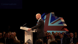 William Hague on stage at the Conservative Party Conference, Manchester, United Kingdom. Sunday, 29th September 2013. Picture by i-Images