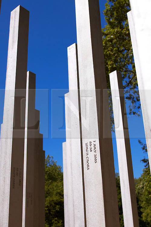 © licensed to London News Pictures. LONDON, UK  02/05/2011. A general view of the July 7 bombing memorial in Hyde Park the day after the US Government announces that Osama Bin Laden has been killed in Pakistan. Please see special instructions for usage rates. Photo credit should read CLIFF HIDE/LNP
