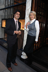 LADY COSIMA SOMERSET and VISCOUNT CASTLEREAGH at a party to celebrate the publication of 'Young Stalin' by Simon Sebag-Montefiore at Asprey, New Bond Street, London on 14th May 2007.<br />