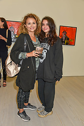 Nadia Sawalha and her daughter Maddie Adderley at the START Art Fair - Preview Evening held at the Saatchi Gallery, Duke of York's HQ, King's Road, London on 25th September 2019.