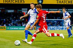 Chris Lines of Bristol Rovers challenges Josh Doherty of Crawley Town  - Mandatory by-line: Ryan Hiscott/JMP - 14/08/2018 - FOOTBALL - Memorial Stadium - Bristol, England - Bristol Rovers v Crawley Town - Carabao Cup