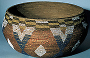 North American Indian artifact: Ceremonial basket. Wappo, California.