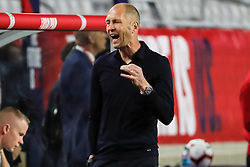 January 27, 2019 - Glendale, AZ, U.S. - GLENDALE, AZ - JANUARY 27:  United States head coach Gregg Berhalter yells to his team during the international friendly soccer game between Panama and the United States on January 27, 2019 at State Farm Stadium in Glendale, Arizona. (Photo by Kevin Abele/Icon Sportswire) (Credit Image: © Kevin Abele/Icon SMI via ZUMA Press)