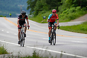 Bicyclist enjoy the scenic views of Northwest Arkansas on Hwy 71 during the Pastry Tour ride from Fayetteville to Mountainburg on May 26, 2019.