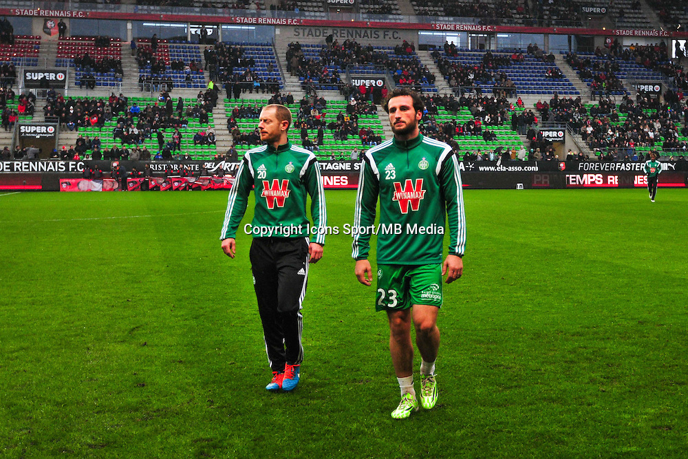 Jonathan Brison / Paul Baysse  - 18.01.2015 - Rennes / Saint Etienne - 21eme journee de Ligue 1 - <br /> Photo : Philippe Le Brech / Icon Sport