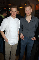 Left to right, brothers TOM AIKENS and ROBERT AIKENS at the opening party for Tom's Kitchen - the restaurant of Tom Aikens at 27 Cale Street, London SW3 on 1st November 2006.<br />