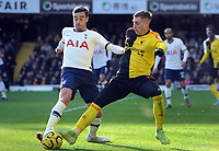 Football - 2019 / 2020 Premier League - Watford vs. Tottenham Hotspur<br /> <br /> Harry Winks of Spurs and Gerard Deulofeu of Watford, at Vicarage Road.<br /> <br /> COLORSPORT/ANDREW COWIE