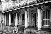 Facade of a home in Nagore. South India.