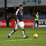 Dundee&rsquo;s Kane Hemmings knocks the ball into the unguarded net to score the second of his hat-trick - Dundee v Hamilton, Ladbrokes Premiership at Dens Park<br /> <br />  - &copy; David Young - www.davidyoungphoto.co.uk - email: davidyoungphoto@gmail.com