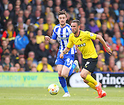Watford Miguel Layun on the ball during the Sky Bet Championship match between Watford and Sheffield Wednesday at Vicarage Road, Watford, England on 2 May 2015. Photo by Phil Duncan.