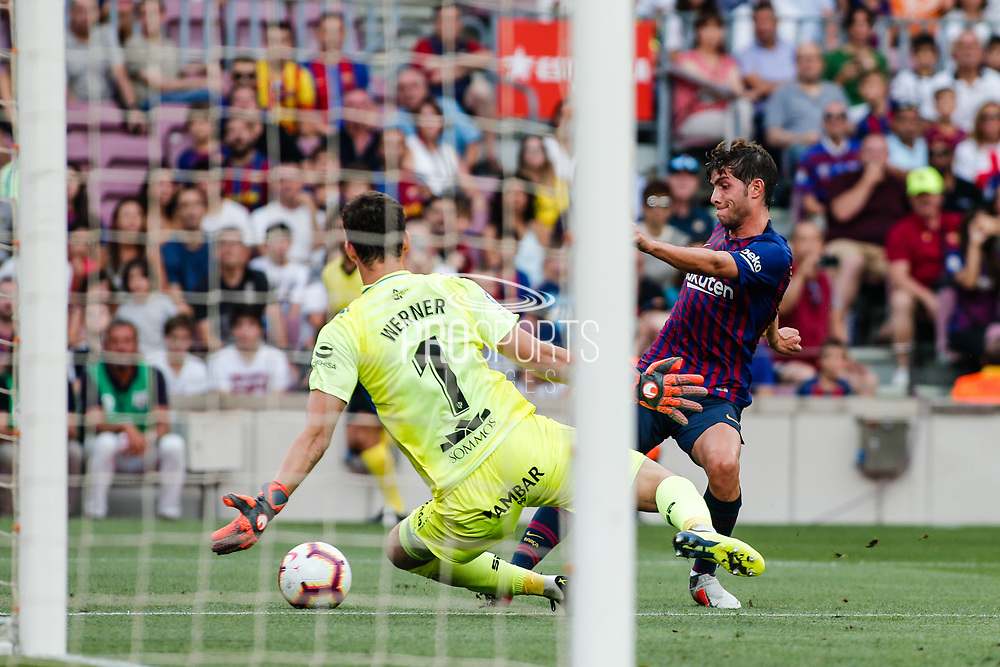 Sergi Roberto of FC Barcelona during the Spanish championship La Liga football match between FC Barcelona and Huesca on September 2, 2018 at Camp Nou Stadium in Barcelona, Spain - Photo Xavier Bonilla / Spain ProSportsImages / DPPI / ProSportsImages / DPPI