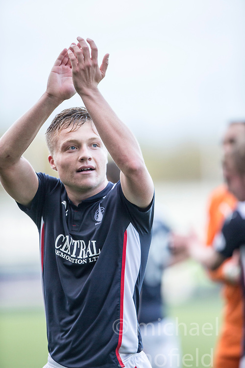 Falkirk's Peter Grant at the end of the game.<br /> Falkirk 6 v 0 Cowdenbeath, Scottish Championship game played at The Falkirk Stadium, 25/10/2014.