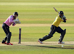 Hampshire's Owais Shah plays through the offside - Photo mandatory by-line: Robbie Stephenson/JMP - Mobile: 07966 386802 - 04/06/2015 - SPORT - Cricket - Southampton - The Ageas Bowl - Hampshire v Middlesex - Natwest T20 Blast