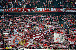 28.04.2015, Allianz Arena, Muenchen, GER, DFB Pokal, FC Bayern Muenchen vs Borussia Dortmund, Halbfinale, im Bild Fanblock Fankurve FCB Suedkurve Flaggen Fahnen // during German DFB Pokal semifinal match between FC Bayern Munich and Borussia Dortmund at the Allianz Arena in Muenchen, Germany on 2015/04/28. EXPA Pictures &copy; 2015, PhotoCredit: EXPA/ Eibner-Pressefoto/ Weber<br /> <br /> *****ATTENTION - OUT of GER*****