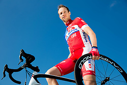 Matej Mugerli of Cycling Team Adria Mobil poses for a portrait session ahead of the 2014 road season on February 25, 2014 in Cesca vas at Novo mesto, Slovenia. Photo by Vid Ponikvar / Sportida