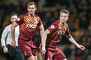 Nathan Clarke (Bradford City) and James Hanson (Bradford City) during the Sky Bet League 1 match between Bradford City and Southend United at the Coral Windows Stadium, Bradford, England on 16 February 2016. Photo by Mark P Doherty.