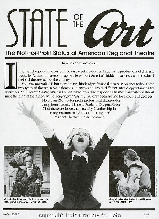 Poster for Pa Stage Co.-collage of images. 06151985