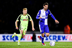 Edward Upson of Bristol Rovers is marked by Ali Crawford of Bolton Wanderers  - Mandatory by-line: Ryan Hiscott/JMP - 22/10/2019 - FOOTBALL - Memorial Stadium - Bristol, England - Bristol Rovers v Bolton Wanderers - Sky Bet League One