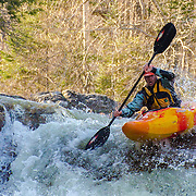 Whitewater paddling on the Ellis River in Jackson, NH