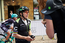 Giorgia Bronzini (ITA) catches her breath after OVO Energy Women's Tour 2018 - Stage 2, a 145 km road race from Rushden to Daventry, United Kingdom on June 14, 2018. Photo by Sean Robinson/velofocus.com