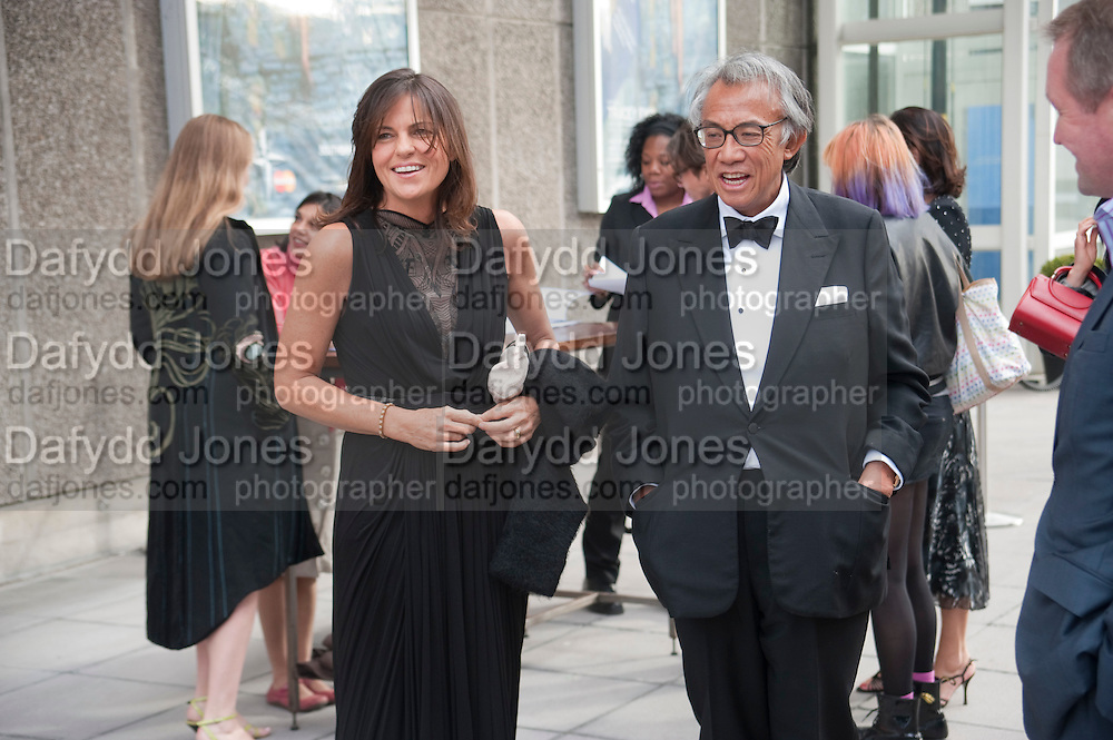 LUCY TANG; DAVID TANG, Opening of Love is what you want. Exhibition of work by Tracey Emin. Hayward Gallery. Southbank Centre. London. 16 May 2011. <br /> <br />  , -DO NOT ARCHIVE-© Copyright Photograph by Dafydd Jones. 248 Clapham Rd. London SW9 0PZ. Tel 0207 820 0771. www.dafjones.com.