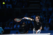 Andy Murray during the ATP World Tour Finals at the O2 Arena, London, United Kingdom on 20 November 2015. Photo by Phil Duncan.
