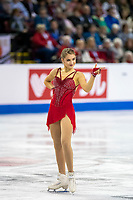 KELOWNA, BC - OCTOBER 25:  Swiss figure skater Alexia Paganini competes at Skate Canada International in the ladies short program at Prospera Place on October 25, 2019 in Kelowna, Canada. (Photo by Marissa Baecker/Shoot the Breeze)