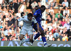 23.10.2011, Craven Cottage, London, ENG, PL, FC Fulham vs FC Everton, im Bild Everton's Louis Saha scores his side's second goal // during the Premier League match between FC Fulham vs FC Everton, at Craven Cottage stadium, London, United Kingdom on 23/10/2011. EXPA Pictures © 2011, PhotoCredit: EXPA/ Propaganda Photo/ Chris Brunskill +++++ ATTENTION - OUT OF ENGLAND/GBR+++++
