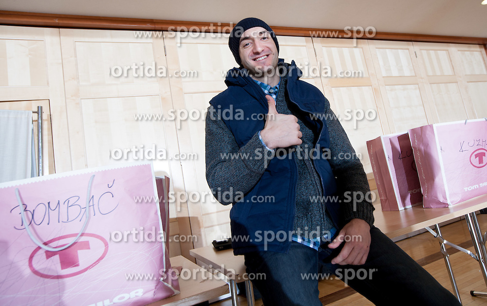 Dragan Gajic of Slovenian Handball Men National Team when they get new clothes of Sportina Group for the EHF European Championship EURO 2012 in Serbia, on January 11, 2011, in Zrece, Slovenia. (Photo by Vid Ponikvar / Sportida)