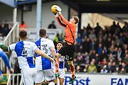 Bristol Rovers Goalkeeper, Joe Lumley (31) claims a cross during the EFL Sky Bet League 1 match between Bristol Rovers and Scunthorpe United at the Memorial Stadium, Bristol, England on 25 February 2017. Photo by Adam Rivers.