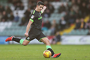 Forest Green Rovers Lloyd James(4) during the EFL Sky Bet League 2 match between Yeovil Town and Forest Green Rovers at Huish Park, Yeovil, England on 8 December 2018.