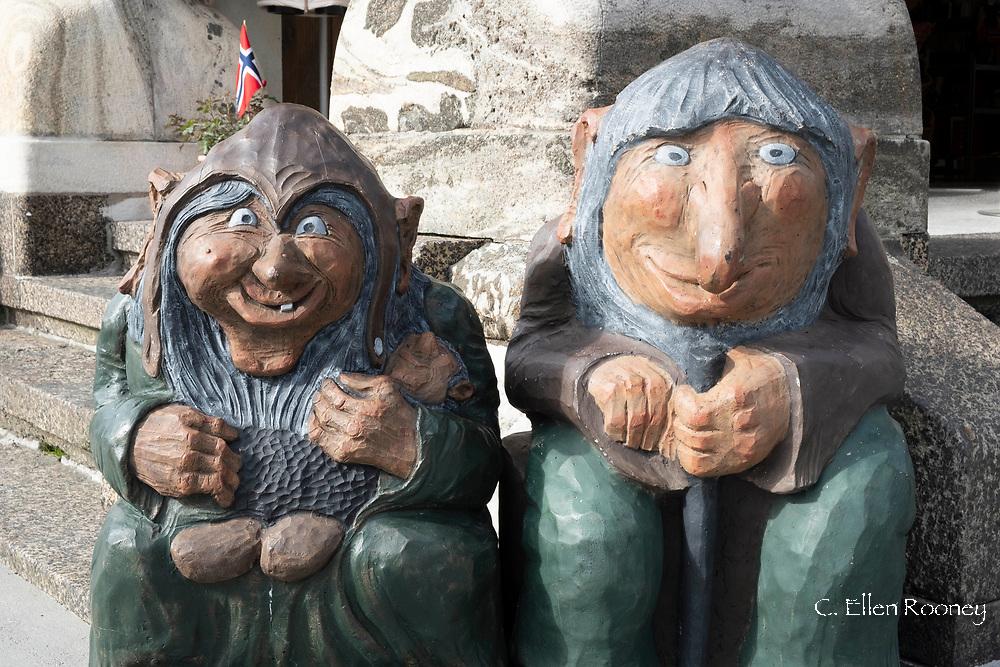 Troll statues in Alesund, Norway