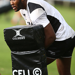 DURBAN, SOUTH AFRICA, 17 November 2015 - Tjiuee Uanivi during The Pre-season training squad and coaching team announcement at Growthpoint Kings Park in Durban, South Africa. (Photo by Steve Haag)<br /> images for social media must have consent from Steve Haag