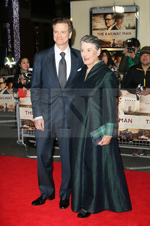 © Licensed to London News Pictures. 04/12/2013, UK. Colin Firth; Patti Lomax, The Railway Man - UK Film Premiere, Odeon West End, Leicester Square, London UK, 04 December 2013. Photo credit : Richard Goldschmidt/Piqtured/LNP