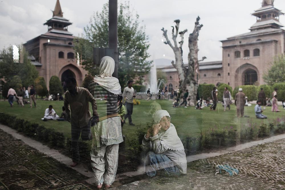Friday prayer at Jamia Mosque after 9 weeks of curfew in Srinagar, 12 November 2011, Kashmir, India...