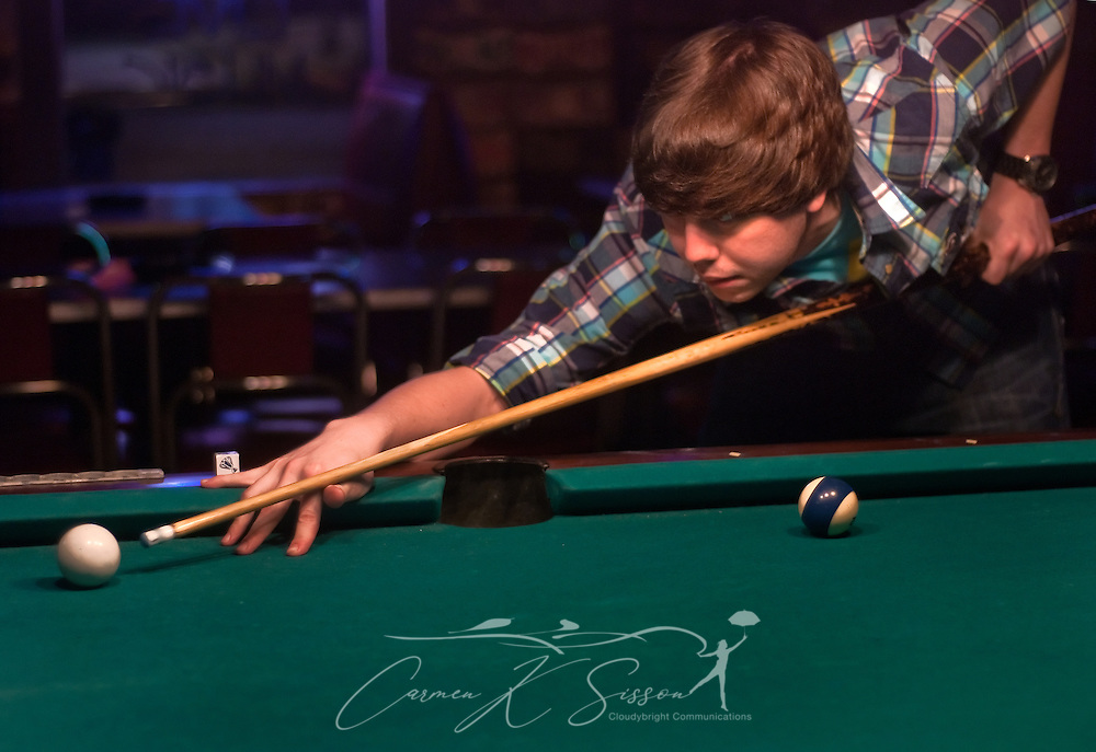 Cory Yarbrough, 24, shoots pool at Echo Lounge Feb. 28, 2011 in Meridian, Miss. Echo bills itself as an authentic Mississippi juke joint and is a popular destination for tourists as well as locals. (Photo by Carmen K. Sisson/Cloudybright)
