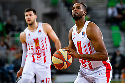 Derrick Brown of KK Crvena Zvezda MTS during ABA basketball league round 9 match between teams KK Cedevita Olimpija and KK Crvena Zvezda MTS in Arena Stozice, 1. December, 2019, Ljubljana, Slovenia. Photo by Grega Valancic / Sportida