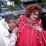 NLD/Amsterdam/20081005 - Première Sinterklaas en het Geheim van het Grote Boek, Frederik de Groot en Hetty Heyting als tante Til
