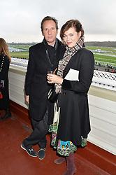NEWBURY, ENGLAND 26TH NOVEMBER 2016: Gawain Rainey & Jasmine Guinness at Hennessy Gold Cup meeting Newbury racecourse Newbury England. 26th November 2016. Photo by Dominic O'Neill