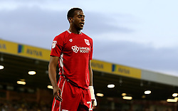 Jonathan Kodjia of Bristol City looks frustrated - Mandatory by-line: Robbie Stephenson/JMP - 16/08/2016 - FOOTBALL - Carrow Road - Norwich, England - Norwich City v Bristol City - Sky Bet Championship